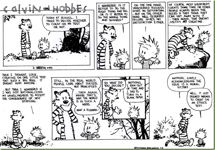 calvin ethics exam