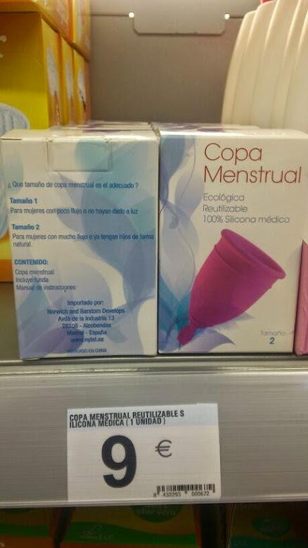 copa menstrual nun centro comercial