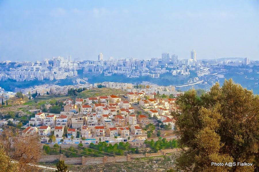 Иерусалим, вид с горы Счастья (Наби Самуэль - пророк Самуил).)