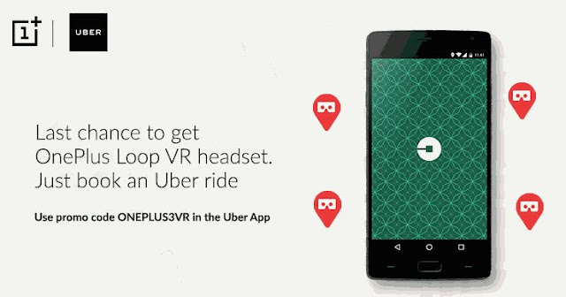 Get Free OnePlus Vr With Uber Ride (Live On 14th June 3Pm- 5Pm)