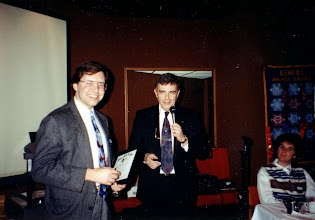 Photo: Research Chairman Neil Armstrong (right) presents a certificate to Mike Swayne of CLP