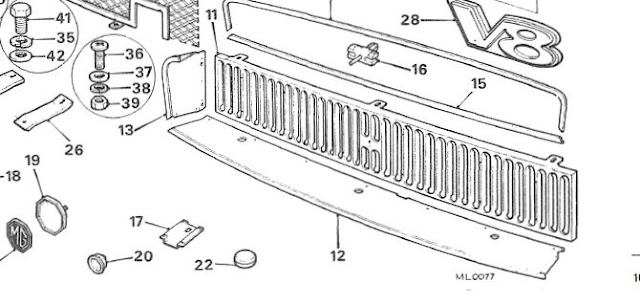 Reassemble 72 Fish Mouth Grille : MGB & GT Forum : MG