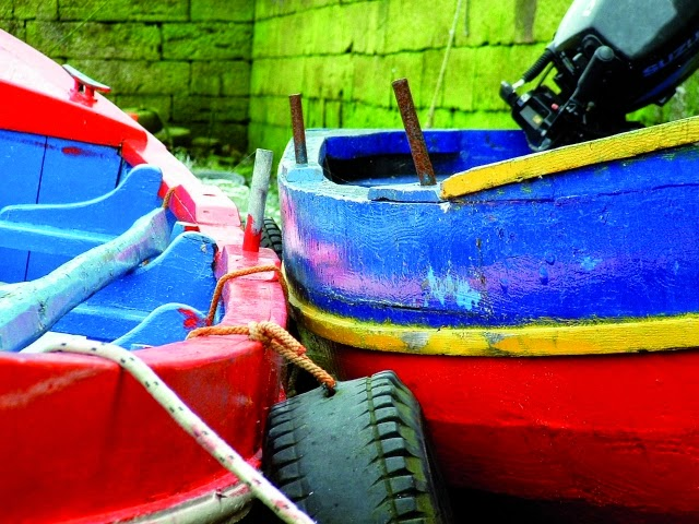 Boats, Galway Harbour. From Driving Ireland's Wild Atlantic Way