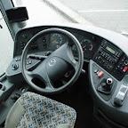 Het dashboard van de Mercedes van Betuwe Express bus 173