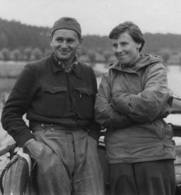 Z żoną Aliną wkrótce po wyjsciu z więzienia we Wronkach