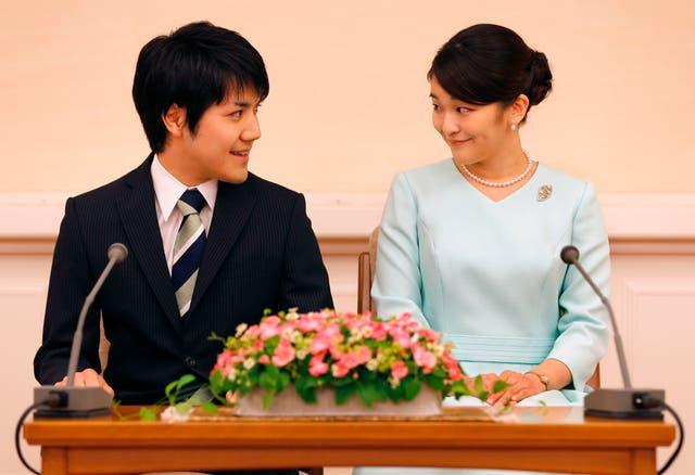 Japan's Princess Mako finally gives up her royal status to marry her commoner boyfriend Kei Komuro (photos)