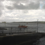 18 September 2011 - The ILB approaches the chain ferry slipway to give advice to a swimmer. This is not a safe place to swim due to the strong currents, the chain ferry's chains and lots of boat traffic.