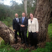 With Premier Denis Napthine and Liberal candidate for Eltham Steven Briffa at Diamond Creek
