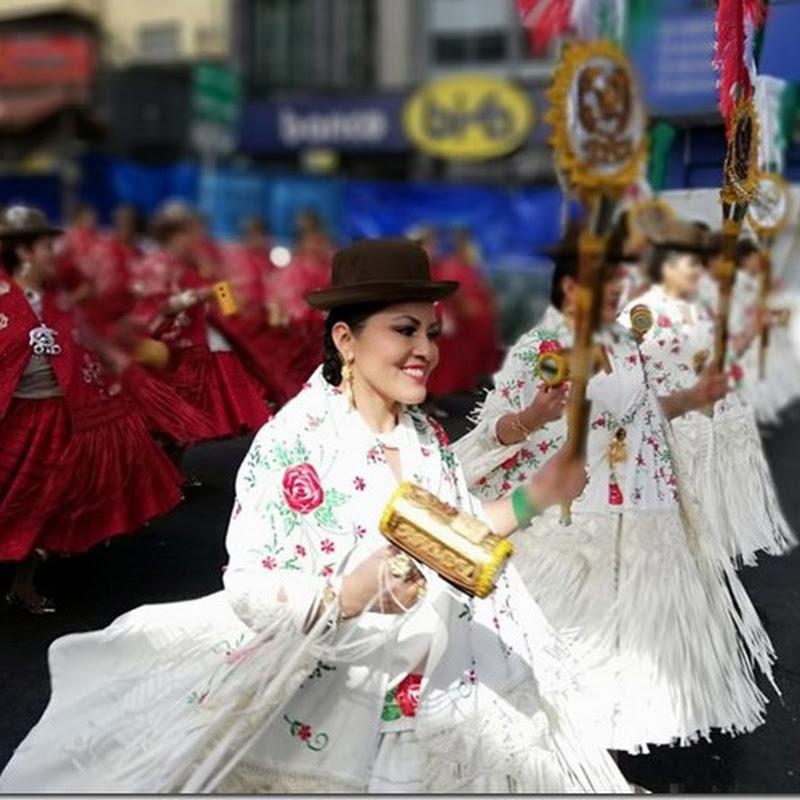 Gran Poder 2018: Cholitas bailando morenada en la entrada