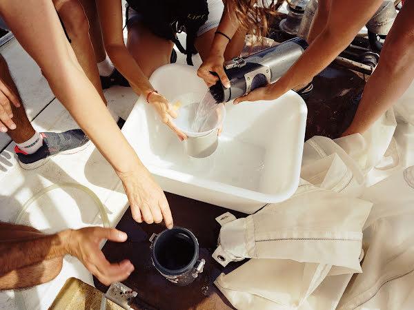 Filtering in water bin