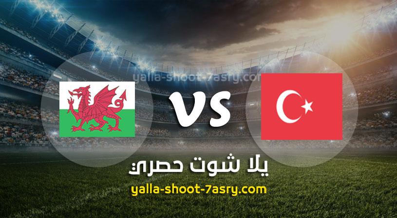 مباراة تركيا وويلز