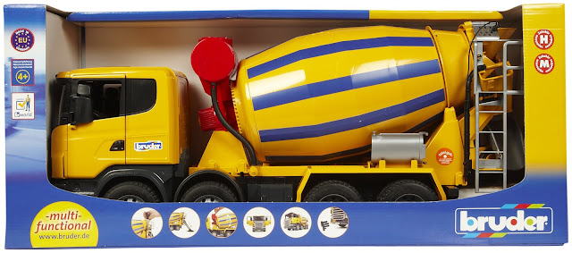 Mô hình Xe trộn xi măng SCANIA BRU03554
