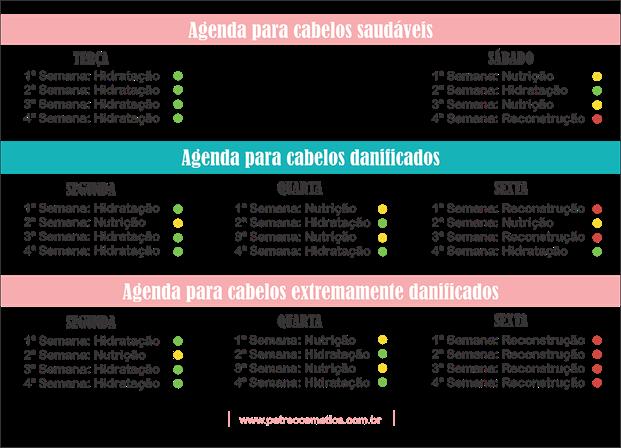 tabela de cronogrma capilar