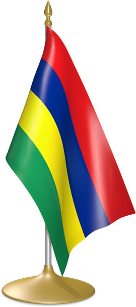 Mauritian table flags - desk flags