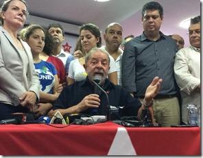 Lula após o depoimento