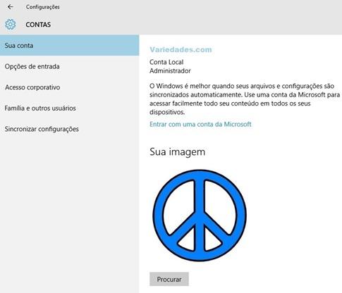Conta Local Microsoft