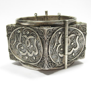 800 Silver Bedouin Star Cuff Bracelet
