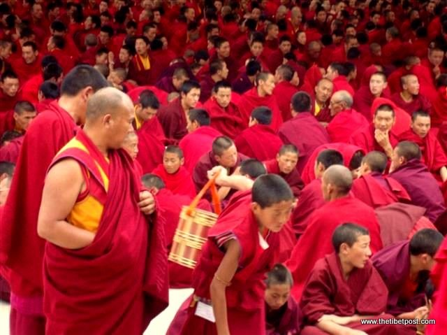 Massive religious gathering and enthronement of Dalai Lama's portrait in Lithang, Tibet. - l89.JPG