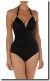 Seaspray Plunge Halterneck Ruched Swimsuit