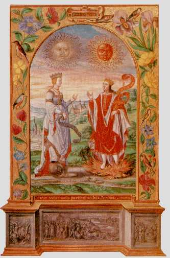 Solar King And Lunar Queen Meet From Splendor Solis, Hermetic Emblems From Manuscripts 1