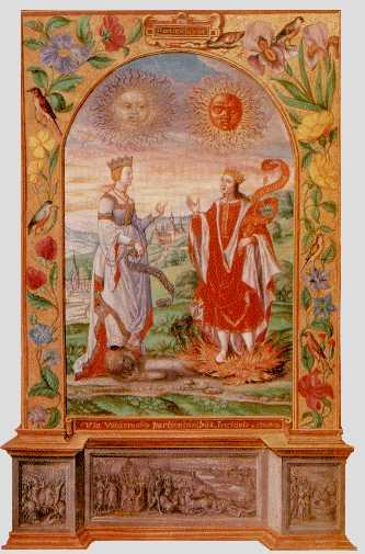 Solar King And Lunar Queen Meet From Splendor Solis, Hermetic Emblems From Manuscripts 1