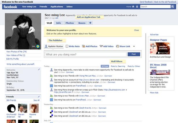 2008 yılında Facebook
