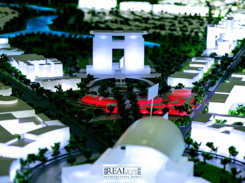 Mô hình kiến trúc REALEYE - Trung tâm chính trị hành chính tập trung