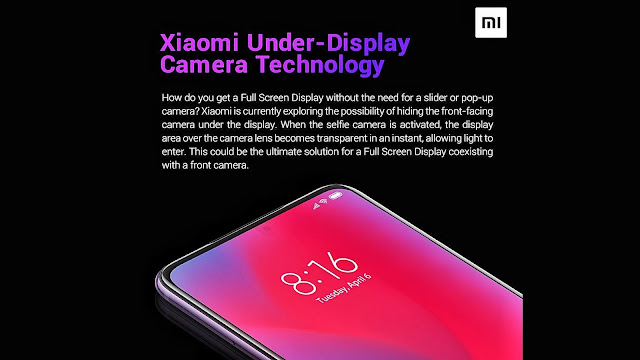 image result for xiaomi under screen selfie camera