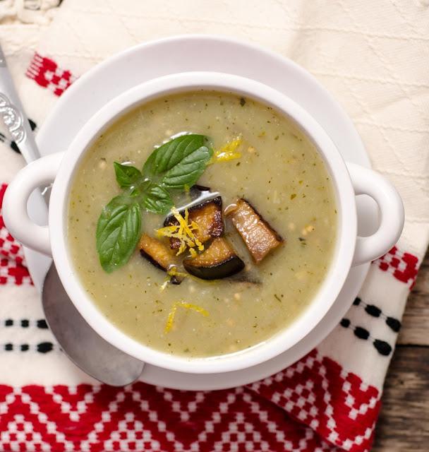 Supa de vinete coapte