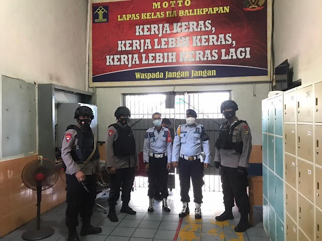 Brimob Polda Kaltim Batalyon A Pelopor, Rutin Gelar Patroli Sambang Lapas