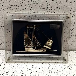 Sterling Silver Framed model Ship