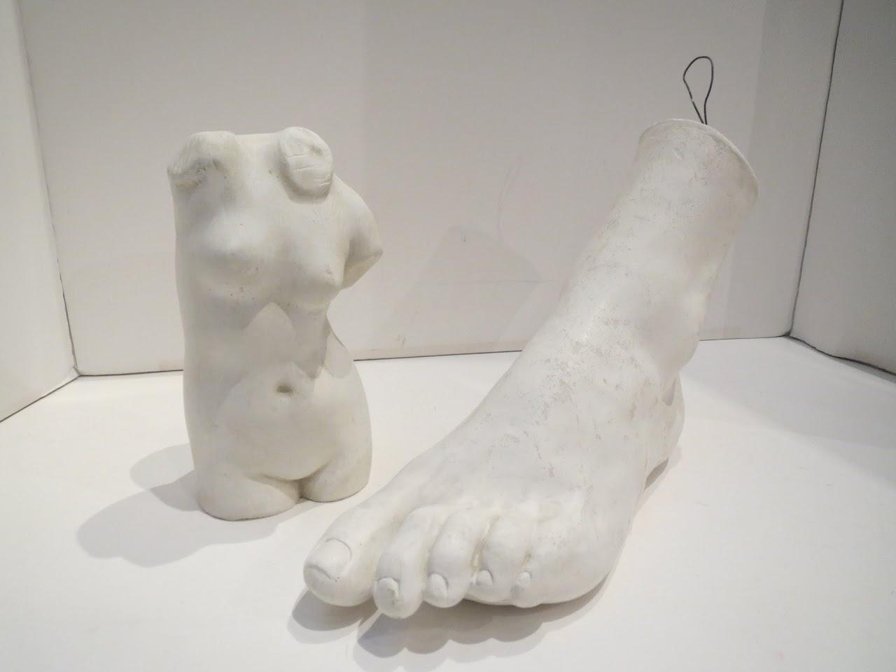 Studio Casts of Foot and Torso