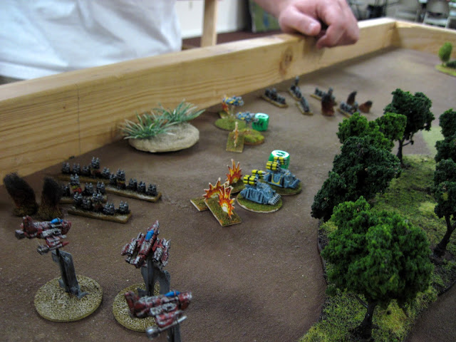 Eric's Stormboyz make a play for the Blitz.