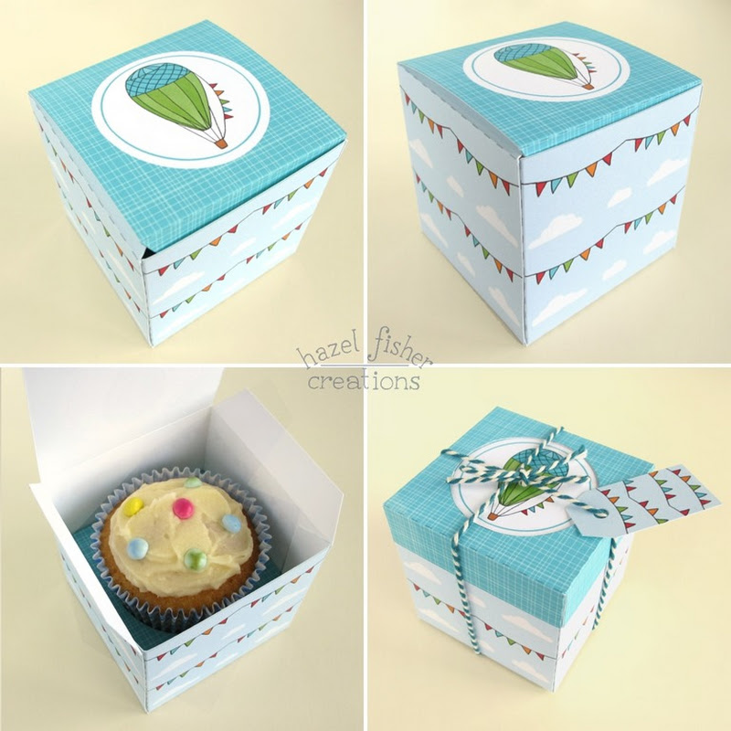 Hazel Fisher Creations Hot Air Balloon Cupcake Box Diy Tutorial