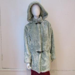 Versace Istante Mint Wool Coat