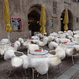 outdoor terras in fur in innsbruck in Innsbruck, Tirol, Austria