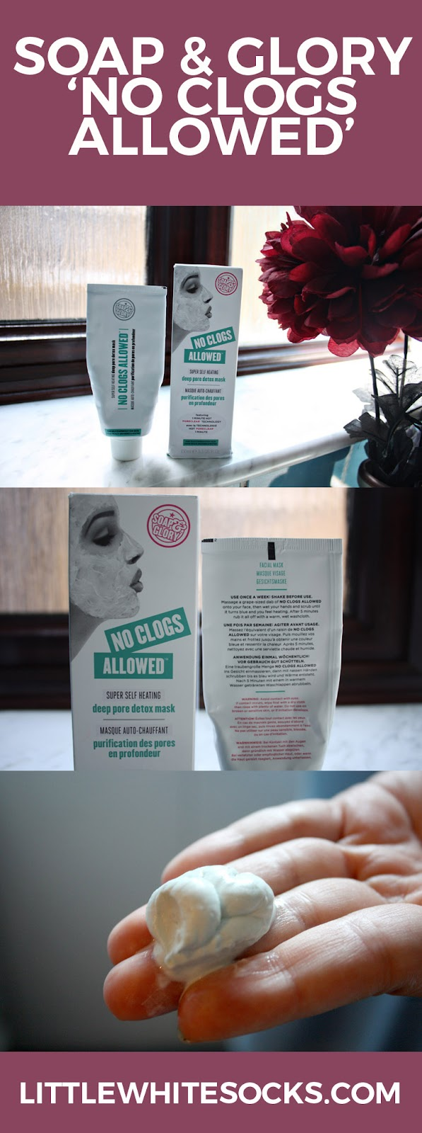soap and glory no clogs allowed face mask