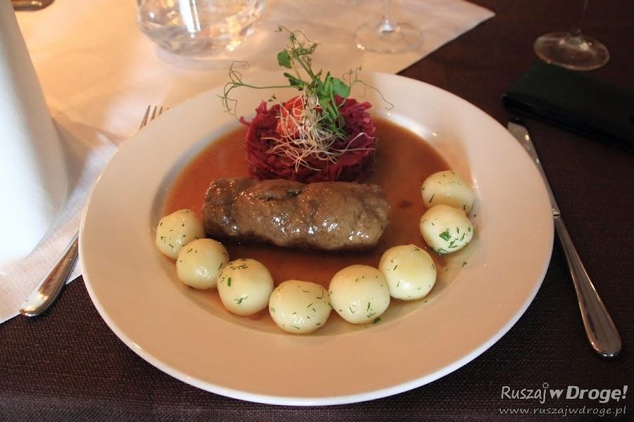 Obiad na Szlaku Śląskie Smaki - kluski i śląska rolada