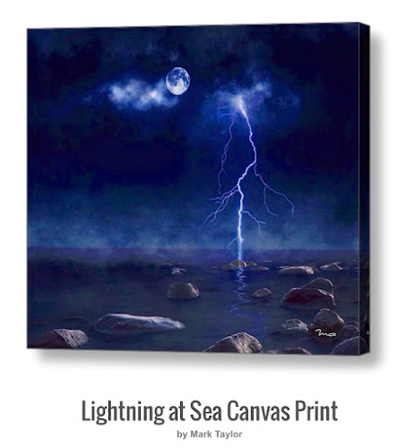 Lightning at Sea by MA