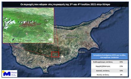 Ε.Α.Α : 46.000 στρέμματα εκτιμάται ότι κάηκαν στην φονική πυρκαγιά της Κύπρου