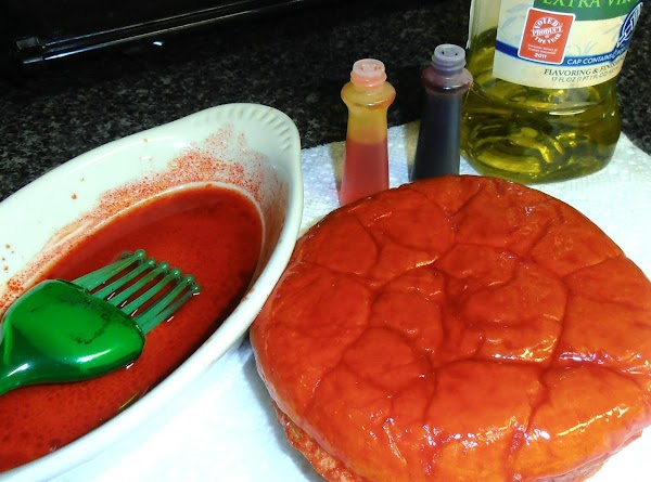 add a couple drops of red and yellow food coloring to 2 tbsp of...