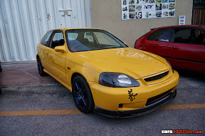 Yellow EK civic