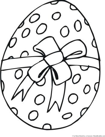 Free Printable Easter Egg Templates and Coloring Sheets - Simple ...   454x349