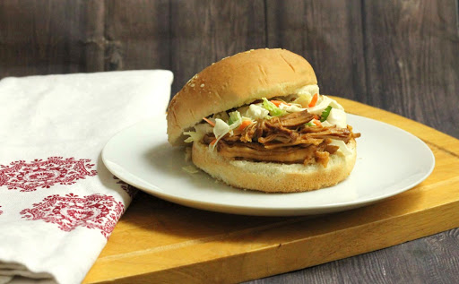 Slow Cooker Bourbon and Brown Sugar Pulled Pork BBQ
