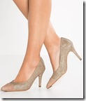 Unisa suede and glitter heels