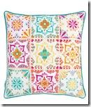 Elizabeth Scarlette Multi Tilework Cushion