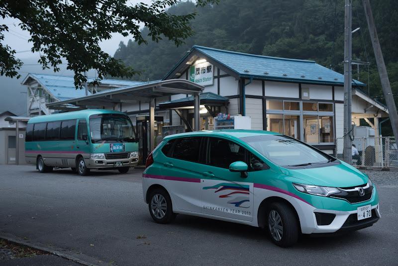 170805 E5系ラッピング駅レンタカーと岩泉線代替バス
