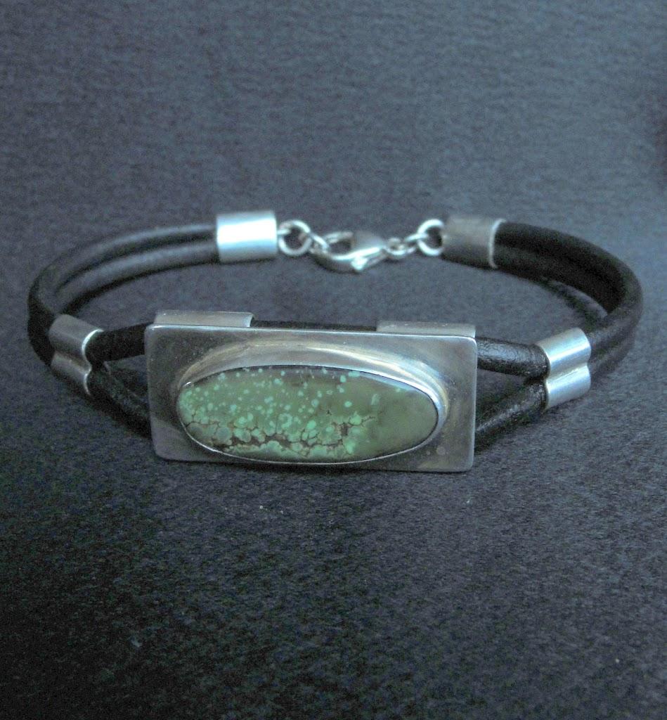 Vintage Green Turquoise Bracelet.....Sold