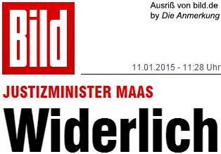 Justizminister Maas widerlich