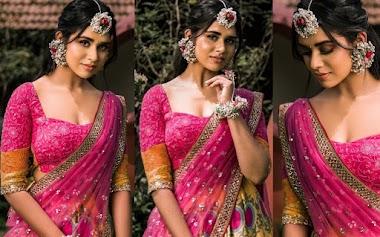 Meenakshi Govindharajan In Pink Mehendi Function Lehenga